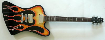 GMP FB Thunderbird Style Guitar w/ Flames and Case